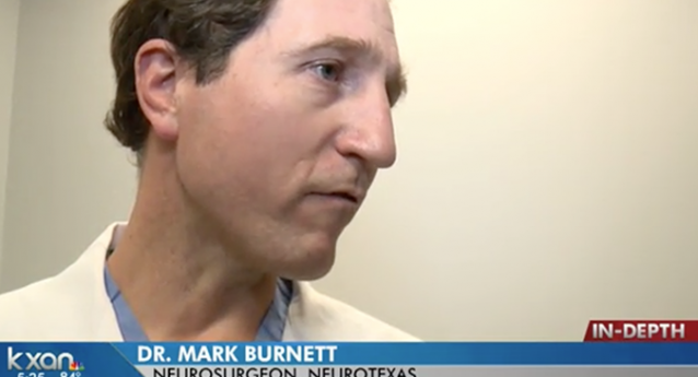 Dr Mark Burnett featured on KXAN